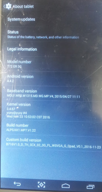Oysters T72HM3G MT6572 flash file for unlocked free