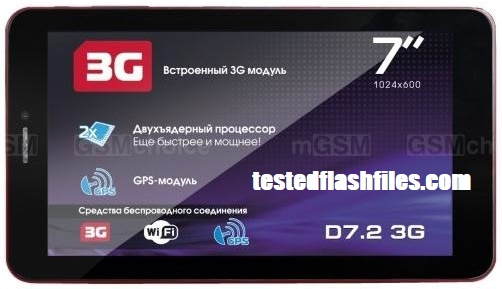 Explay D7.2 3G MT6572 Flash file free