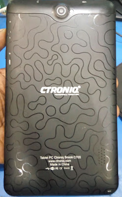 Ctroniq Tablet C70S MT6572 Firmware free