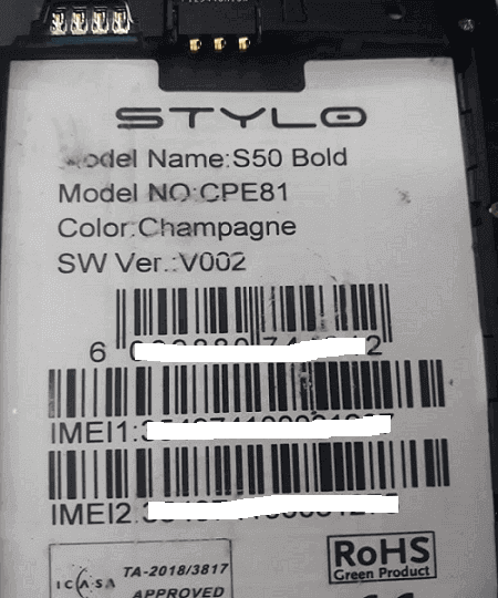 Stylo S50 Bold MT6580 firmware free