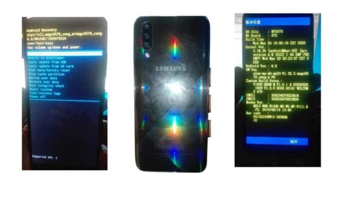 Samsung A70S MT6570 Firmware free